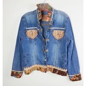 Levis| Vintage Denim Embroidered Jacket